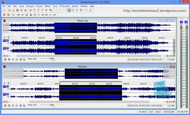 برنامج Sound Forge